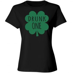 Drunk One Woman's Dark T-shirt