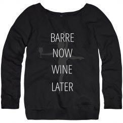 Wine Later Barre Workout Sweats