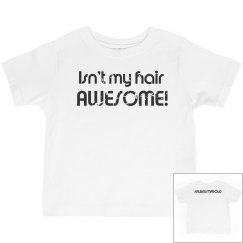 Isn't My Hair AWESOME- Toddler Boys- Distressed Look
