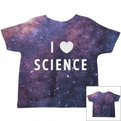 Cute I Love Science All Over Print