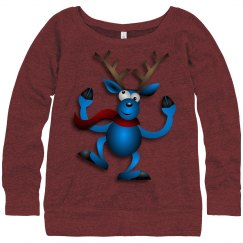 Dancing Blue Reindeer