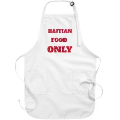 HAITIAN FOOD ONLY APRON