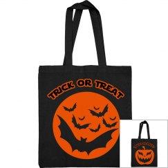 Black & Orange Trick Or Treat Bag