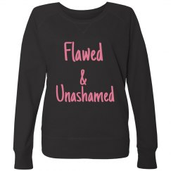 Flawed-Ladies Curvy Plus Size French Terry Pullover