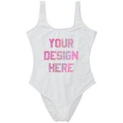 Custom Glitter Print Swimsuit
