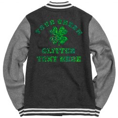 Custom Irish Glitter Shamrock Bomber