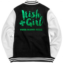 Custom Metallic Irish Girl Bomber