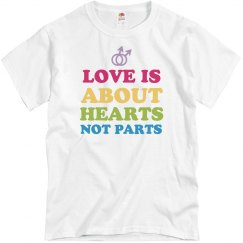 Hearts Not Parts Gay Pride