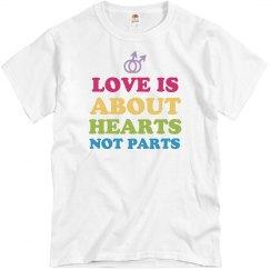 Hearts Not Parts Gay Pride