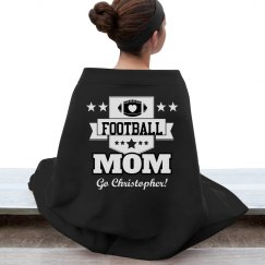 Cozy & Warm Football Mom Blanket With Custom Name