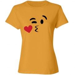 Kissy Face Emoji Costume Left