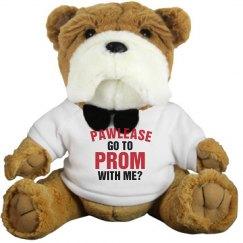 Funny Prom Plush Promposal Dog