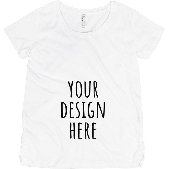 85bc6b4b080d2 Create Your Own Baby Announcement Maternity Cotton T-Shirt