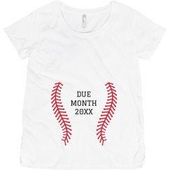 Baseball Fan Pregnancy Add Due Date