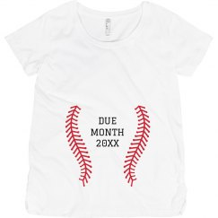 Baseball Fan Pregnancy Add Due Date