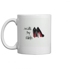 Walk by faith red bottom heels