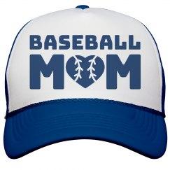 Cute Baseball Mom With Heart