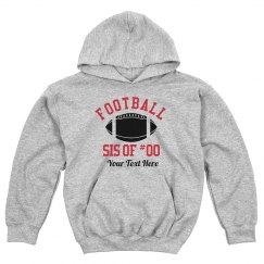 Football Sis Custom Number Hoodie