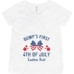 Bump's First Fourth! Custom Maternity Tee