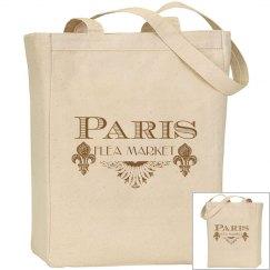 Paris Flea Market Tote Bag