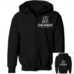 Youth black zipper front hoodie