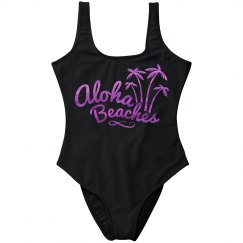 Metallic Fuschia Aloha Beaches