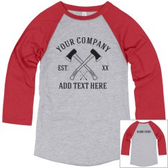 Add Your Company Text Axe Tee