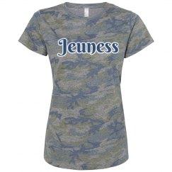 Jeuness Camo Shirt w/ Blue & White Outline