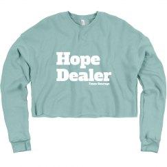 Hope Dealer Crop Sweatshirt block lettering