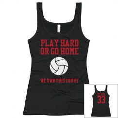 Red&Black volleyball Tank