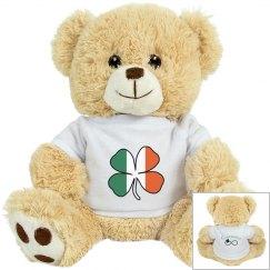 Irish Flag Shamrock Bear