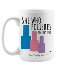 She Who Polishes - Coffee Mug - Cosmetology