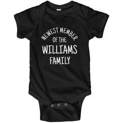 Newest Member Custom Family Newborn