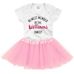 Custom Newest Member Tutu Onesie