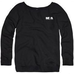 Womens Wide Neck Sweatshirt Small Logo