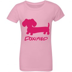 Doxified Pink Ruffle Youth Top