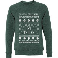 Custom Text Spaceship Sweater