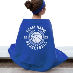 Custom Team Basketball Blanket