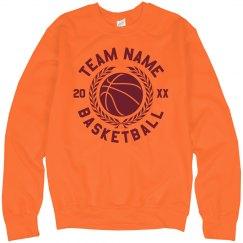 Custom Team Name Basketball Sweatshirt