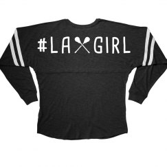 Hashtag Lax Girl Long-Sleeve Slub