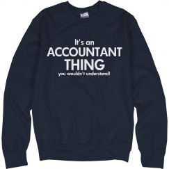 It' an accountant thing