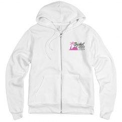 Unisex Zip Hoodie with White Logo