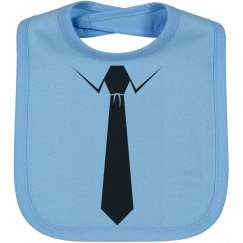 Suite And Tie Baby Bib
