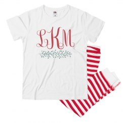 Custom Christmas Monogram Pajamas