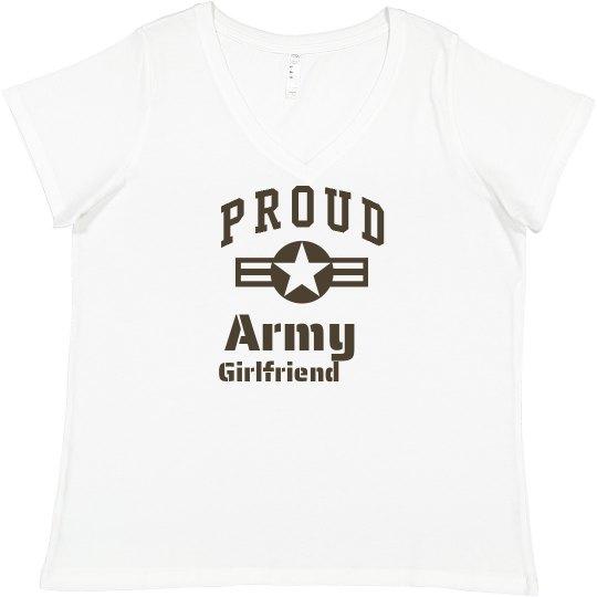 15383a19 Loud & Proud Army Girlfriend Promo Ladies Curvy Plus Size Scoopneck T-Shirt