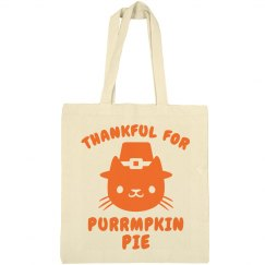 Cat Thanksgiving Tote