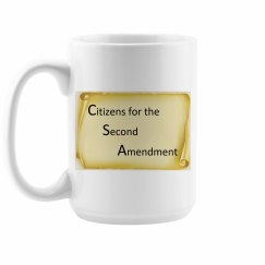 Citizens for the Second Amendment Coffee Cup