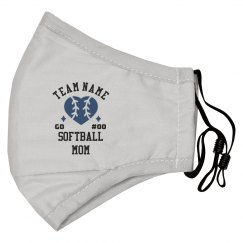 Custom Softball Mom Face Mask