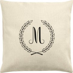 Custom Initial Throw Pillow