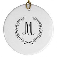 Porcelain Circle Ornament
